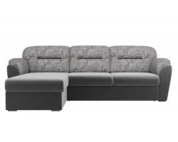 Угловой диван из флока Бостон