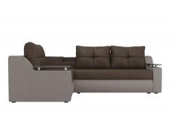 Угловой диван из рогожки Тесей
